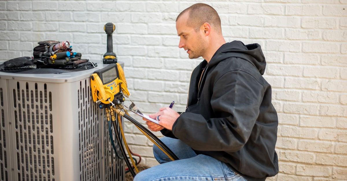 A Technician Implementing HVAC Repair in Greensboro
