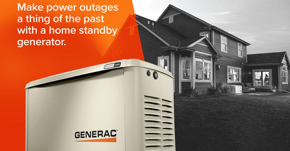 Residential home generator installation in Winston-Salem